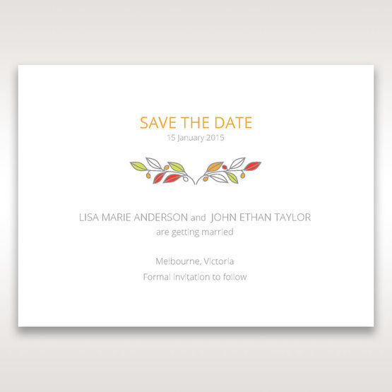White Wild Floral Wreath - Save the Date - Wedding Stationery - 0