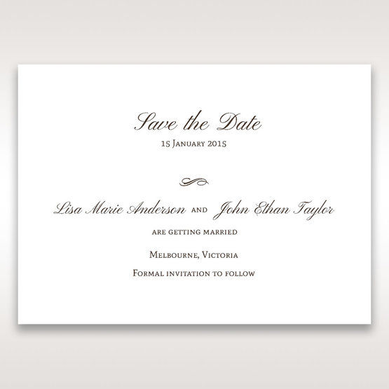 Brown Jeweled Couture in Brown - Save the Date - Wedding Stationery - 61