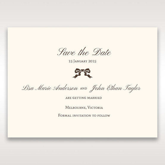 Brown Shimmering Gold Floral Chains - Save the Date - Wedding Stationery - 91
