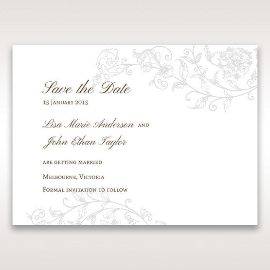Green Romatic Couture with Pearls - Save the Date - Wedding Stationery - 82