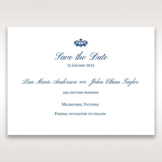 Blue Jeweled Borders - Save the Date - Wedding Stationery - 72