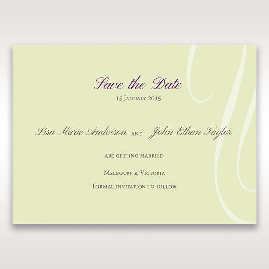 Green Butterfly in the Green Meadow - Save the Date - Wedding Stationery - 54