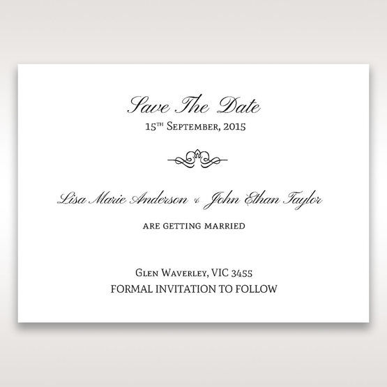 Silver/Gray Kinne White - Save the Date - Wedding Stationery - 13