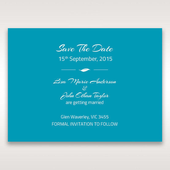 Blue Mystic Forest Band Laser Cut - Save the Date - Wedding Stationery - 62