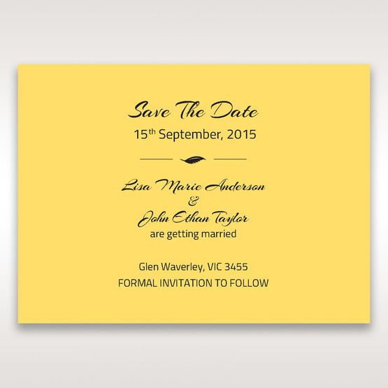 Yellow/Gold Mystic Forest Band Laser Cut - Save the Date - Wedding Stationery - 64