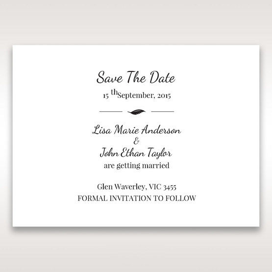 White Mystic Forest Laser Cut Wrap II - Save the Date - Wedding Stationery - 90