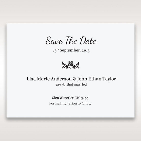 White Laser Gated Elegance Laser Cut Pocket - Save the Date - Wedding Stationery - 39