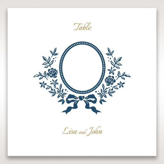 Blue Old-fashioned Romance - Table Number Cards - Wedding Stationery - 86