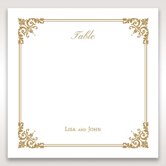 Yellow/Gold Romatic Classic - Table Number Cards - Wedding Stationery - 84
