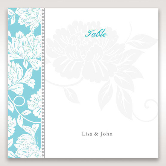 Blue Vintage Floral in Blue - Table Number Cards - Wedding Stationery - 50