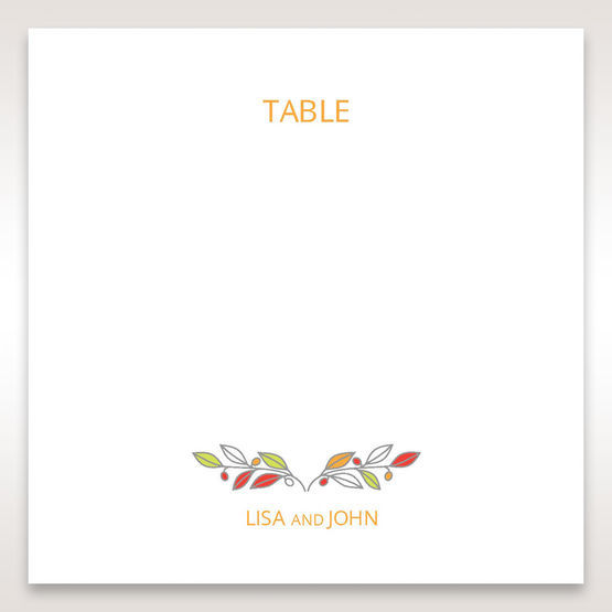 White Wild Floral Wreath - Table Number Cards - Wedding Stationery - 31