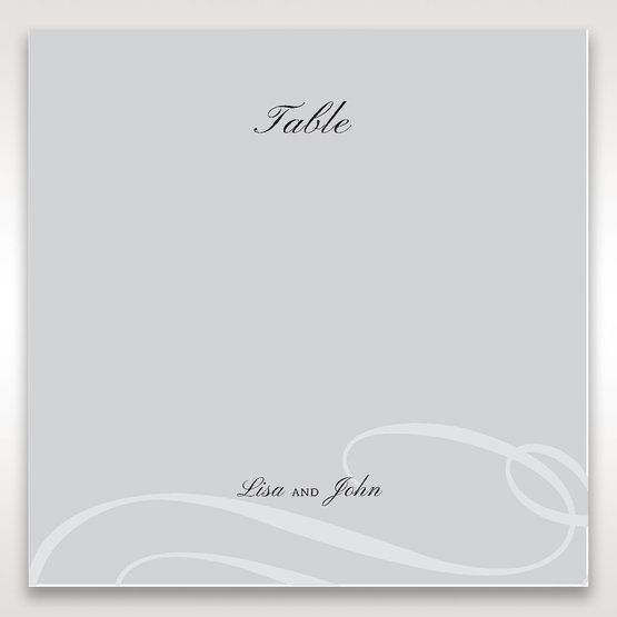 Silver/Gray Elegant Swirls; Silver & White - Table Number Cards - Wedding Stationery - 42