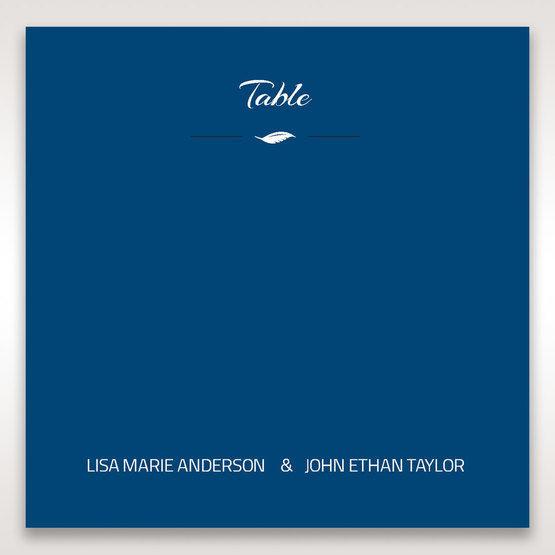 Blue Flower Sash I Laser Cut  - Table Number Cards - Wedding Stationery - 29