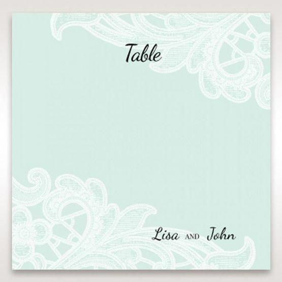 Blue Laser Cut Floral Pocket - Table Number Cards - Wedding Stationery - 87