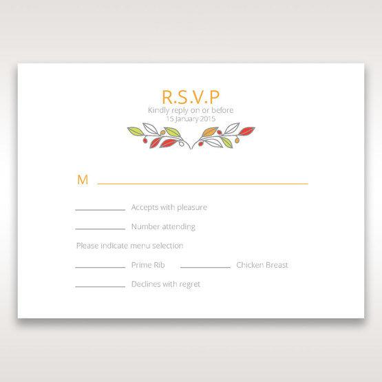 White Wild Floral Wreath - RSVP Cards - Wedding Stationery - 2
