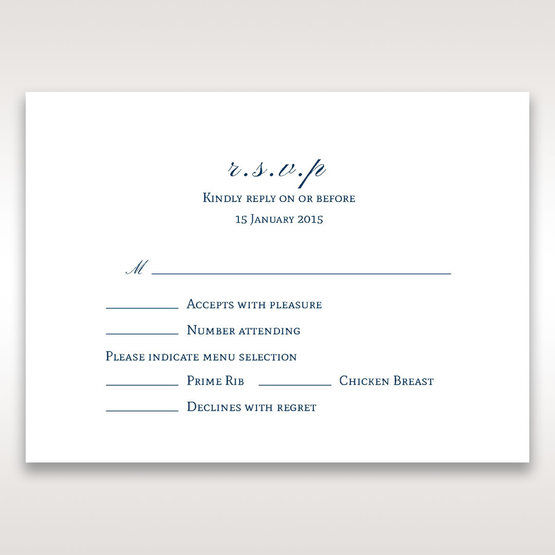 Blue Urban Chandelier - RSVP Cards - Wedding Stationery - 80