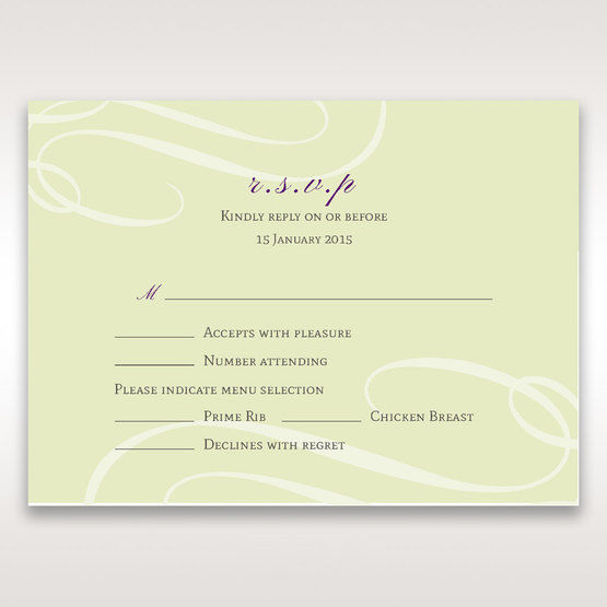 Green Butterfly in the Green Meadow - RSVP Cards - Wedding Stationery - 32