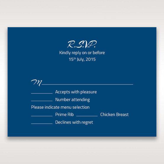 Blue Flower Sash I Laser Cut  - RSVP Cards - Wedding Stationery - 2