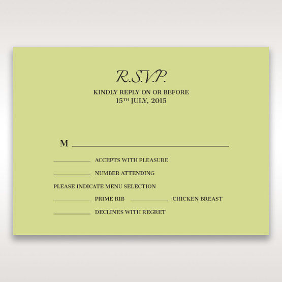 Green Laser Contempo Laser Cut Pocket - RSVP Cards - Wedding Stationery - 7
