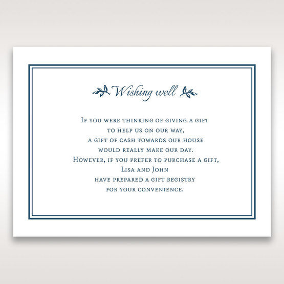 Blue Old-fashioned Romance - Wishing Well / Gift Registry - Wedding Stationery - 3