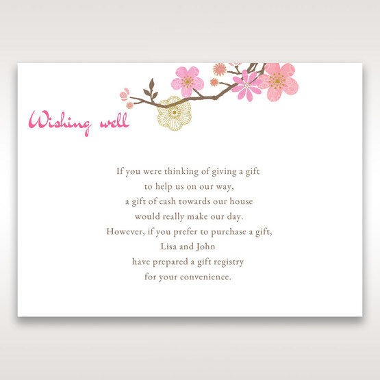 Pink Warm & Mellow Spring - Wishing Well / Gift Registry - Wedding Stationery - 14