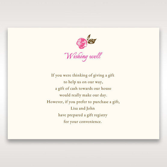 Red Flowers & Gemstones - Wishing Well / Gift Registry - Wedding Stationery - 49