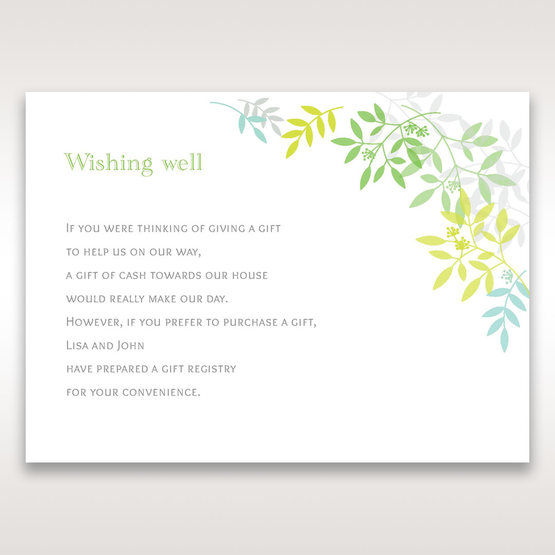 Green Natural Attraction - Wishing Well / Gift Registry - Wedding Stationery - 33