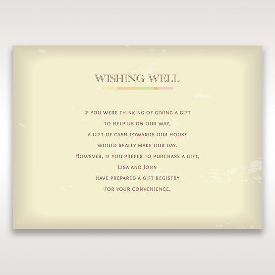 Orange Faded Modern Retro - Wishing Well / Gift Registry - Wedding Stationery - 40