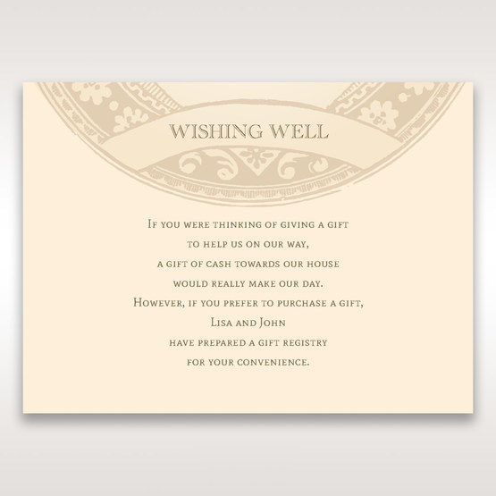Yellow/Gold Around the Globe with Love - Wishing Well / Gift Registry - Wedding Stationery - 54