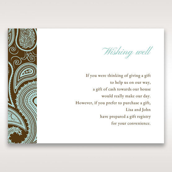 Blue Vintage Swirls - Wishing Well / Gift Registry - Wedding Stationery - 64