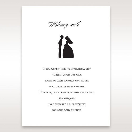 Black Traditional Birde and Groom - Wishing Well / Gift Registry - Wedding Stationery - 44