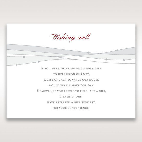 Pink Urban Couture with Jewels - Wishing Well / Gift Registry - Wedding Stationery - 64