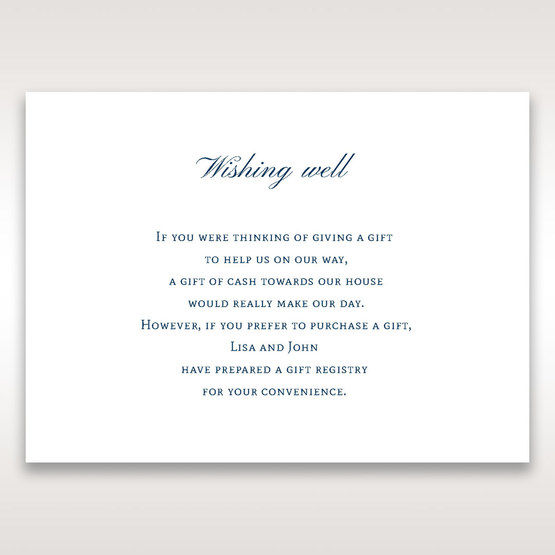 Blue Urban Chandelier - Wishing Well / Gift Registry - Wedding Stationery - 39
