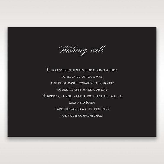 Black  Elegant Swirls, Silver & White - Wishing Well / Gift Registry - Wedding Stationery - 61