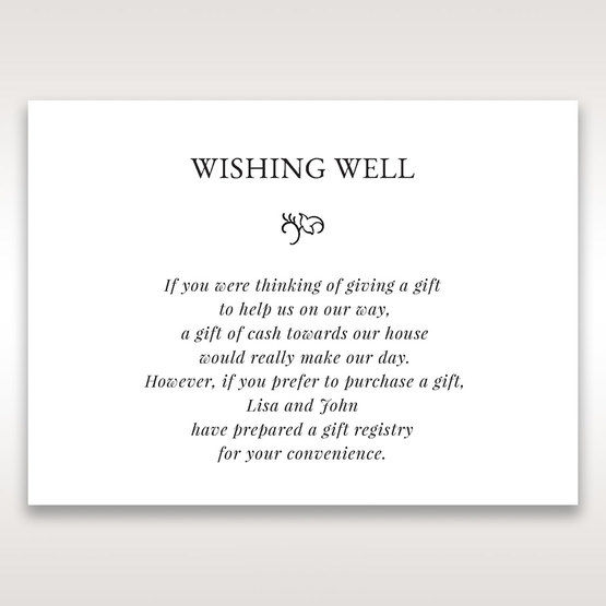 White Romantic Laser Cut - Wishing Well / Gift Registry - Wedding Stationery - 34