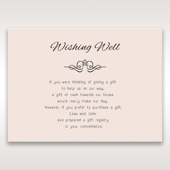 White Laser Inseparable Wrap - Wishing Well / Gift Registry - Wedding Stationery - 20