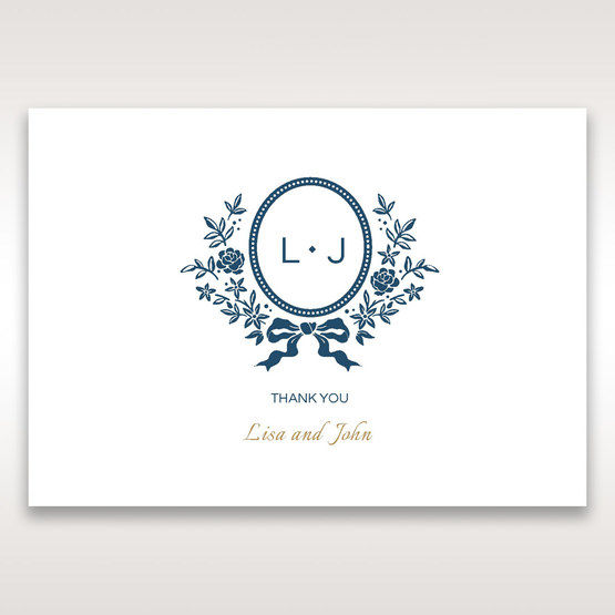 Blue Old-fashioned Romance - Thank You Cards - Wedding Stationery - 63