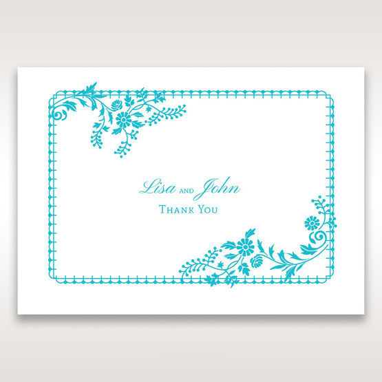 Blue Romantic Modern Floral - Thank You Cards - Wedding Stationery - 56