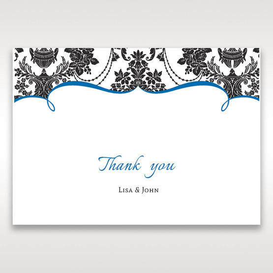 Black Black Grandeur - Thank You Cards - Wedding Stationery - 29