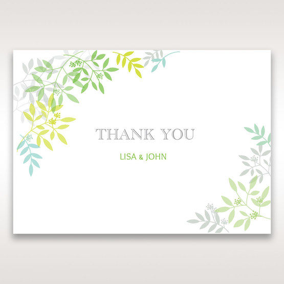 Green Natural Attraction - Thank You Cards - Wedding Stationery - 9