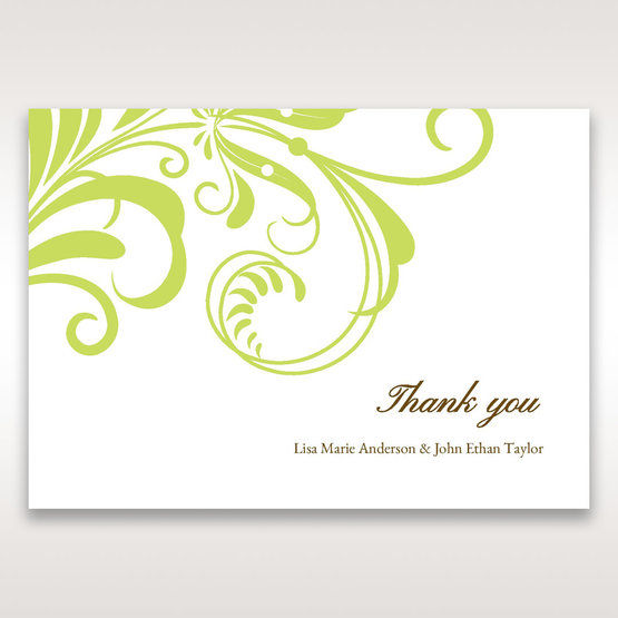 Green Sophisticataed Vintage Swirls - Thank You Cards - Wedding Stationery - 77