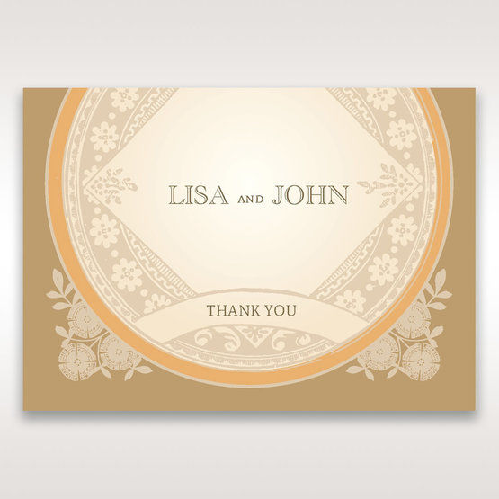 Yellow/Gold Around the Globe with Love - Thank You Cards - Wedding Stationery - 24