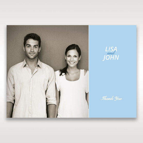 Blue Side by Side - Thank You Cards - Wedding Stationery - 3