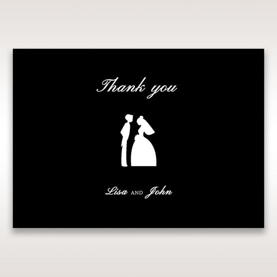 Black Traditional Birde and Groom - Thank You Cards - Wedding Stationery - 68