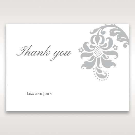Blue Handmade Jeweled Floral - Thank You Cards - Wedding Stationery - 4