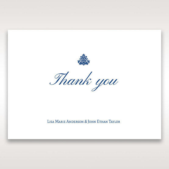 Blue Jeweled Borders - Thank You Cards - Wedding Stationery - 74