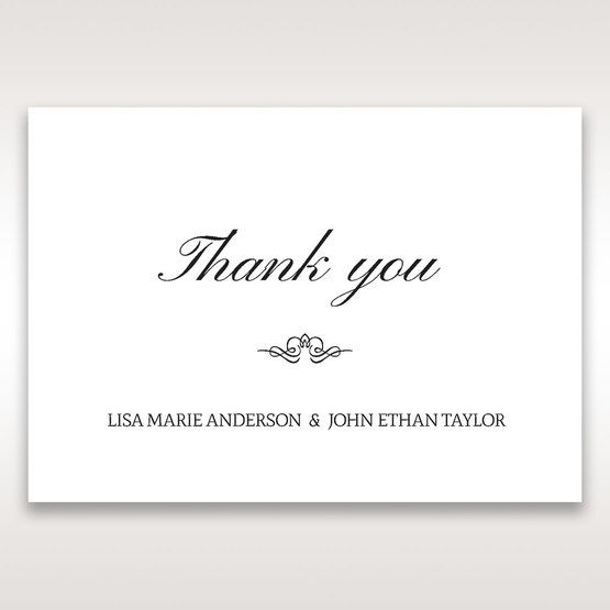 Silver/Gray Kinne White - Thank You Cards - Wedding Stationery - 99