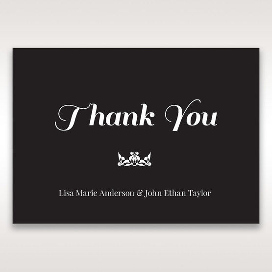 Black Vintage Rose Layered Laser Cut - Thank You Cards - Wedding Stationery - 59