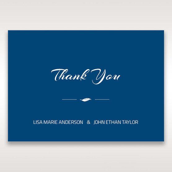 Blue Flower Sash I Laser Cut  - Thank You Cards - Wedding Stationery - 43