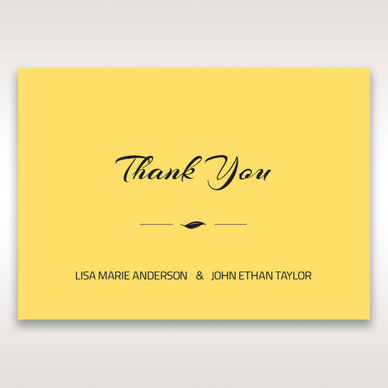 Yellow/Gold Mystic Forest Band Laser Cut - Thank You Cards - Wedding Stationery - 51
